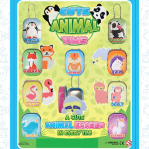 V 52 F Cute Animal Eraser Tin