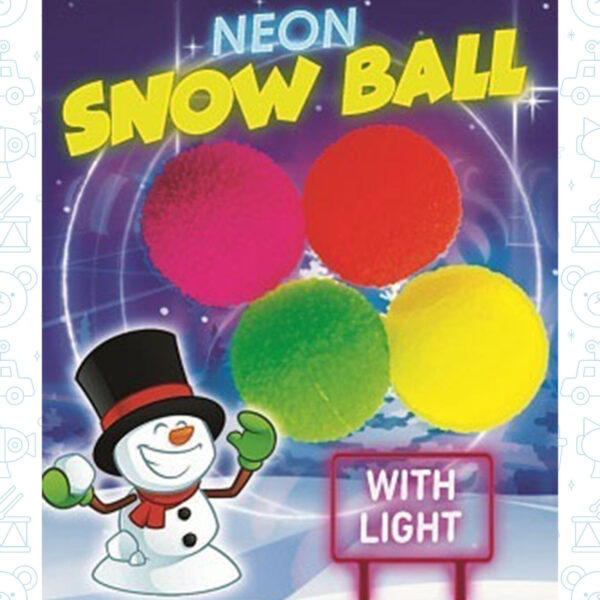 V 65 811 Neon Snowball With Light 50 Stuks